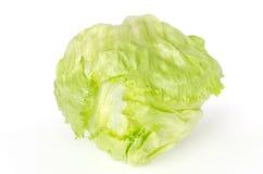 Вид спереди айсберга или салата crisphead над белизной Стоковое Фото