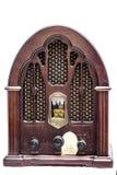 Вид спереди винтажного радио Стоковые Изображения RF