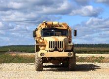 Вид спереди военного транспортного средства Стоковое Изображение RF