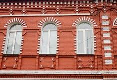 Вид спереди жилого дома, Санкт-Петербург, Россия Стоковое Фото