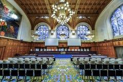 Вид спереди зала судебных заседаний Международного суда стоковое изображение