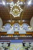 Вид спереди зала судебных заседаний Международного суда стоковые фото