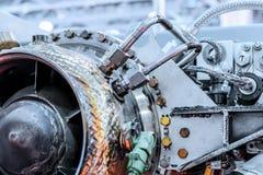 Вид спереди источника питания auxiliary газовой турбины Стоковая Фотография