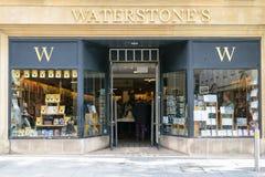 Вид спереди книжного магазина Waterstones Стоковые Изображения RF