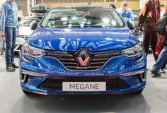Вид спереди нового автомобиля Renault Megane GT на выставке автомобиля Белграда Стоковые Фотографии RF