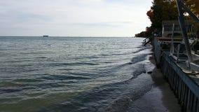 Вид спереди озера от нашего коттеджа Стоковое Фото