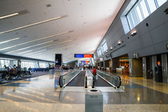 Вид спереди дорожки авиапорта Лас-Вегас McCarran moving Стоковое фото RF