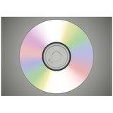 Вид спереди реалистического диска КОМПАКТНОГО ДИСКА или DVD Стоковые Фотографии RF