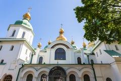 Вид спереди собора Sophia Святого в городе Киева Стоковая Фотография RF
