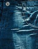 Вид спереди текстуры джинсовой ткани Стоковые Фото