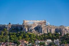 Вид с воздуха акрополя Афин. Греция. стоковые фотографии rf