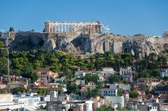 Вид с воздуха акрополя Афин. Греция. стоковая фотография rf