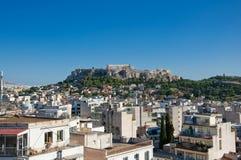 Вид с воздуха акрополя Афин. Греция. стоковое изображение rf