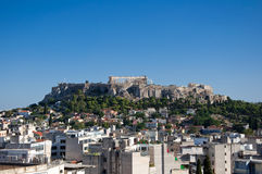 Вид с воздуха акрополя Афин. Греция. стоковая фотография