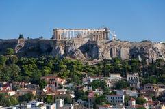 Вид с воздуха акрополя Афин. Греция. Стоковое Фото
