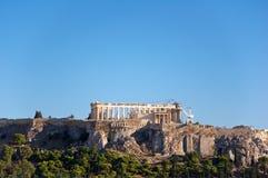 Вид с воздуха акрополя Афин. Греция. стоковое фото rf