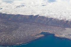 Вид с воздуха ландшафта сезона зимы естественный Стоковое фото RF