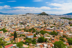 Вид с воздуха Афин от акрополя, Греции Стоковые Изображения RF