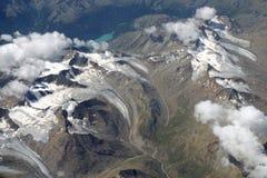 Вид с воздуха Альпов Стоковое Фото