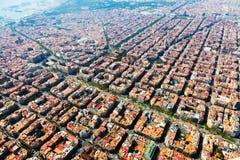 Вид с воздуха Барселоны, Каталонии стоковая фотография