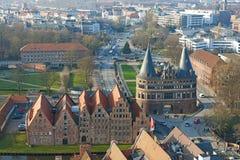 Вид с воздуха Бек ¼ LÃ, Германии стоковое изображение rf