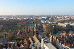 Вид с воздуха Бек ¼ LÃ, Германии стоковые изображения