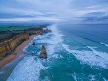 Вид с воздуха береговой линии 12 апостолов Стоковое Фото