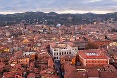 Вид с воздуха болонья от башни Asinelli, болонья, Emilia-Roma Стоковое Изображение RF