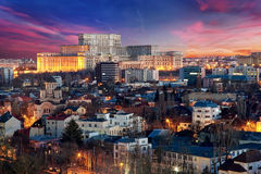 Вид с воздуха Бухареста Стоковое фото RF