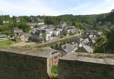 Вид с воздуха бульона вдоль реки Semois, Бельгии Стоковое Фото