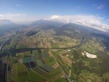 Вид с воздуха - Вале, Во Стоковое Изображение