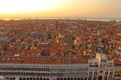 Вид с воздуха Венеции от колокольни Сан Marco, Стоковая Фотография RF