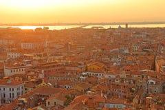 Вид с воздуха Венеции от колокольни Сан Marco, Стоковое Изображение