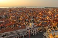 Вид с воздуха Венеции от колокольни Сан Marco, Стоковое Изображение RF