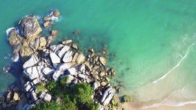 Вид с воздуха взгляда PhanganAerial Koh Thansadet: Пляж Yai лотка ремня, Koh Phangan сток-видео