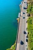 Вид с воздуха движения дороги Стоковое фото RF