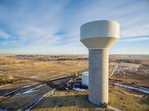 Вид с воздуха водонапорной башни Стоковая Фотография