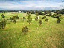 Вид с воздуха двухвекового парка, Мельбурна, Австралии стоковое изображение