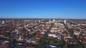Вид с воздуха в городе Araraquara, положении Сан-Паулу - Бразилии видеоматериал