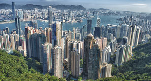 Вид с воздуха Гонконга Стоковая Фотография RF