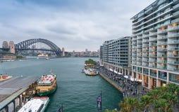 Вид с воздуха горизонта Сиднея, Австралии Стоковые Изображения