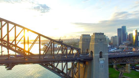 Вид с воздуха горизонта Сиднея, Нового Уэльса, Австралии Стоковое Фото