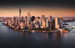 Вид с воздуха горизонта New York City Стоковые Изображения