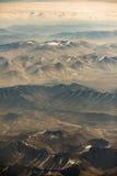 Вид с воздуха горной цепи в Leh, Ladakh, Индии Стоковое Фото