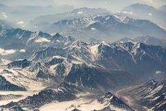 Вид с воздуха горной цепи в Leh, Ladakh, Индии Стоковые Изображения