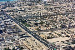 Вид с воздуха города Дубай Стоковое Фото