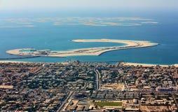 Вид с воздуха города Дубай Стоковая Фотография