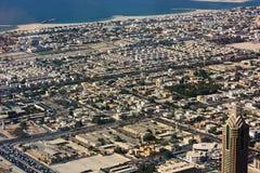 Вид с воздуха города Дубай Стоковые Фотографии RF