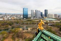 Вид с воздуха города Осака Стоковые Фото