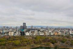 Вид с воздуха города Осака Стоковые Изображения
